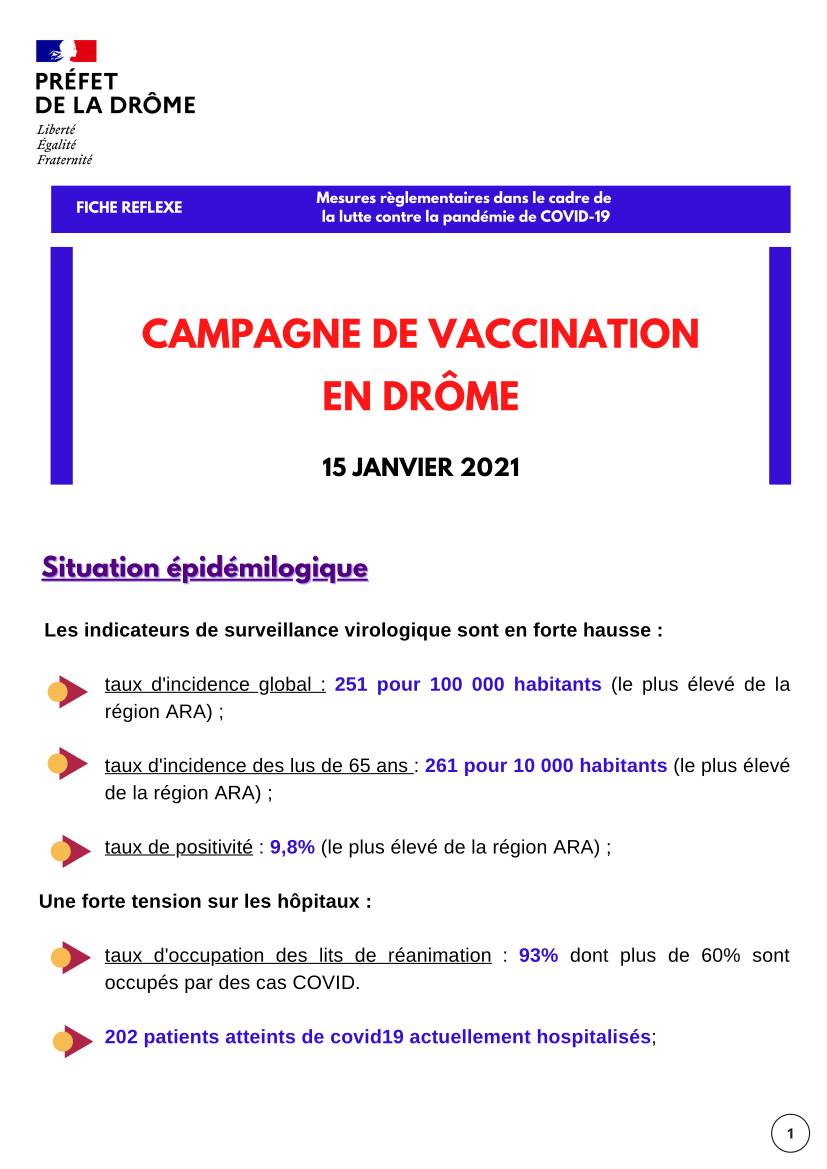 Fiche Reflexe Drôme : CAMPAGNE DE VACCINATION EN DRÔME