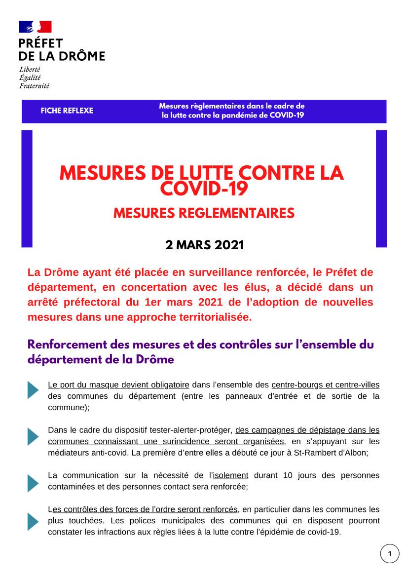 Fiche Reflexe Drôme : COVID19